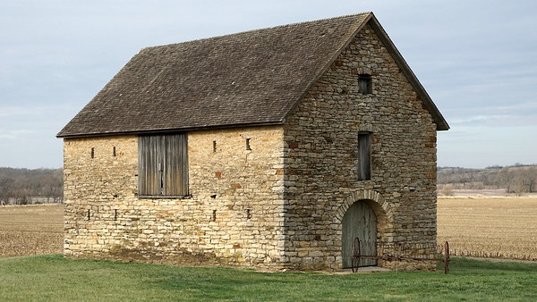 1861 historic limestone barn near Robinson