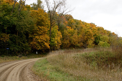 Fall foliage near Missouri River - eastern Doniphan County