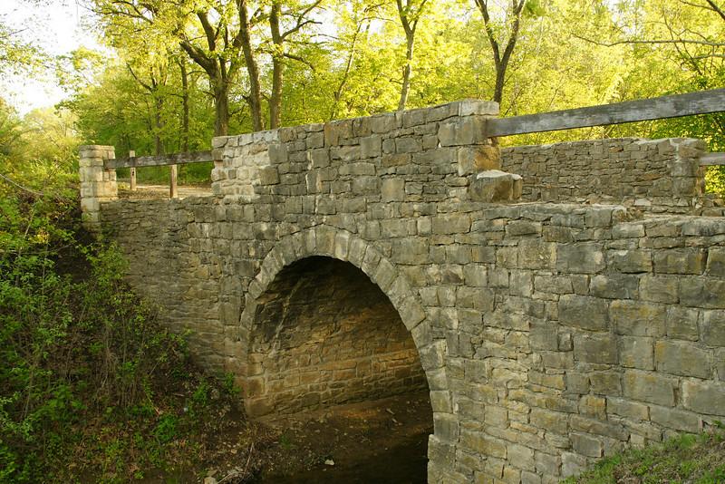 Chicken Creek stone arch bridge near Lone Star