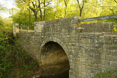 Chicken Creek stone arch bridge near Lone Star