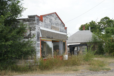 Abandoned buildings in Worden - southwest Douglas County