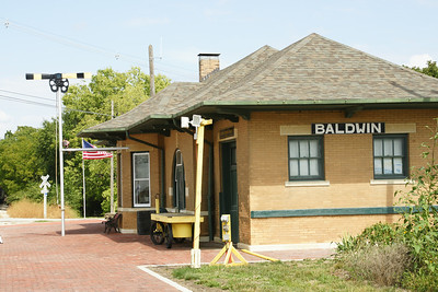 Depot in Baldwin City now used by Midland Railway