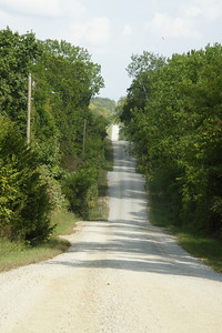 Gravel road thru hills in southern Douglas County