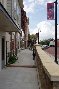 Sidewalk - downtown Baldwin City