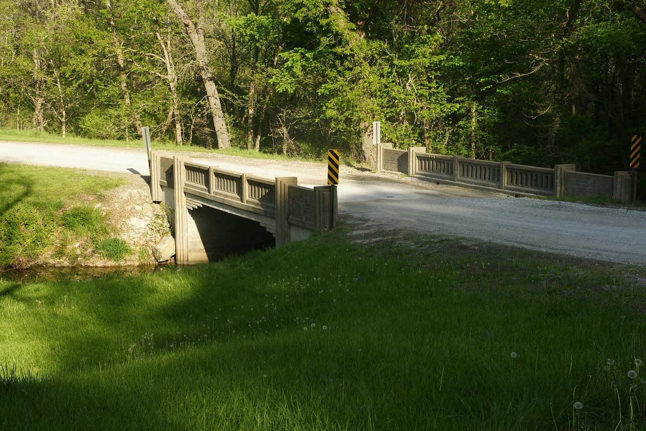 Bridge over stream near Lone Star Lake