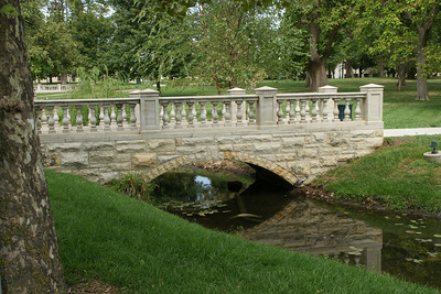 Taft bridge, Baker University in Baldwin City. Named after President Taft who visited the campus during his term in office.