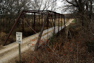 Thru truss bridge over Clark's Creek - southern Geary County