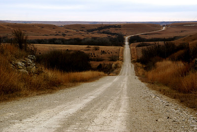 Tulley Hill Road thru the Flint Hills near I-70