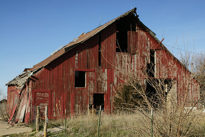 Old red barn - western Jackson County