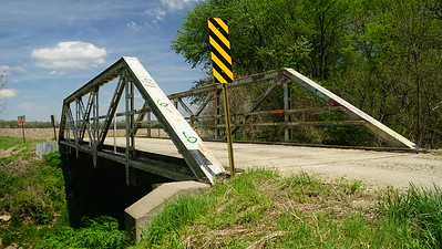 Pony truss bridge over Crooked Creek - northeast Jefferson County