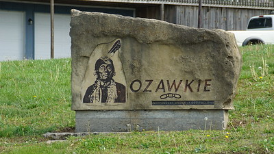 Ozawkie town sign