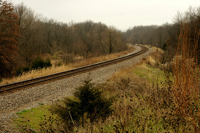 Union Pacific railroad track along 175th southeast of Overland Park