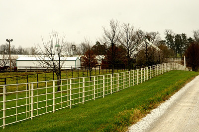 Horse farm southeast of Stillwell