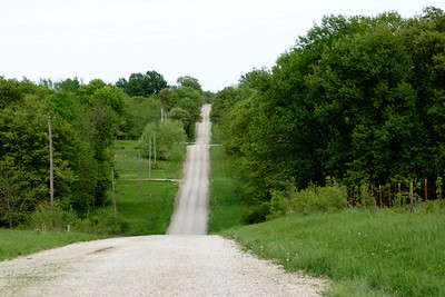 Road through the glacial hills east of Tonganoxie