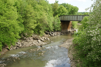 Railroad bridge over Mud Creek - extreme southwest Leavenworth County