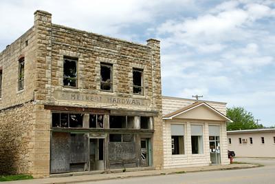 Former limestone hardware store in Easton