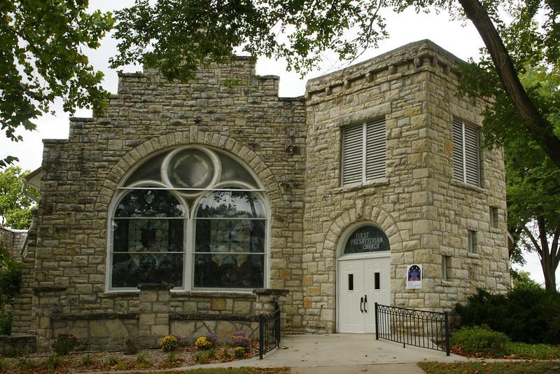Limestone Presbyterian church in Frankfort