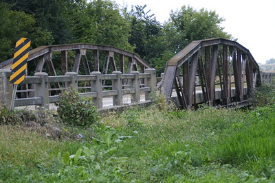 Pony truss bridge over Robidoux Creek near Frankfort