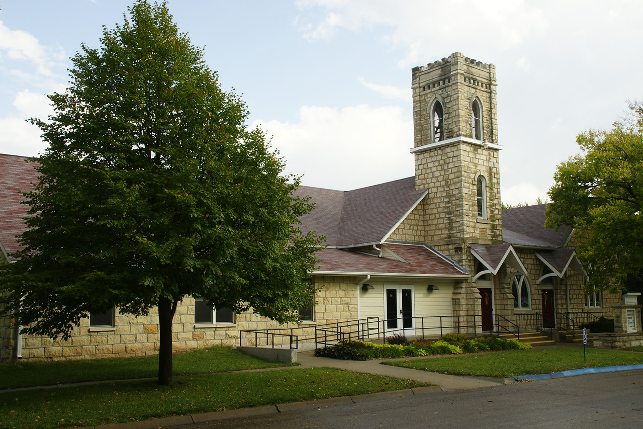 Limestone Methodist Church in Blue Rapids
