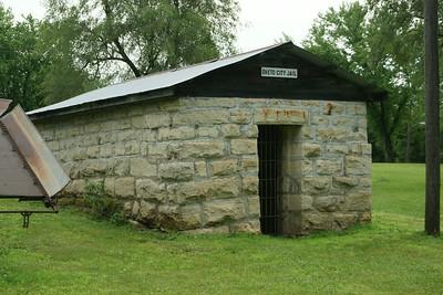Limestone former jail in Oketo