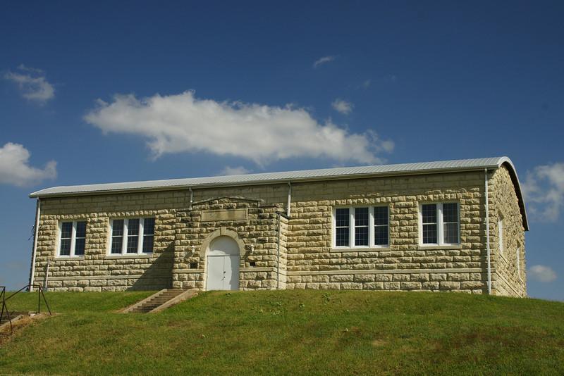 Historic limestone auditorium in Lillis