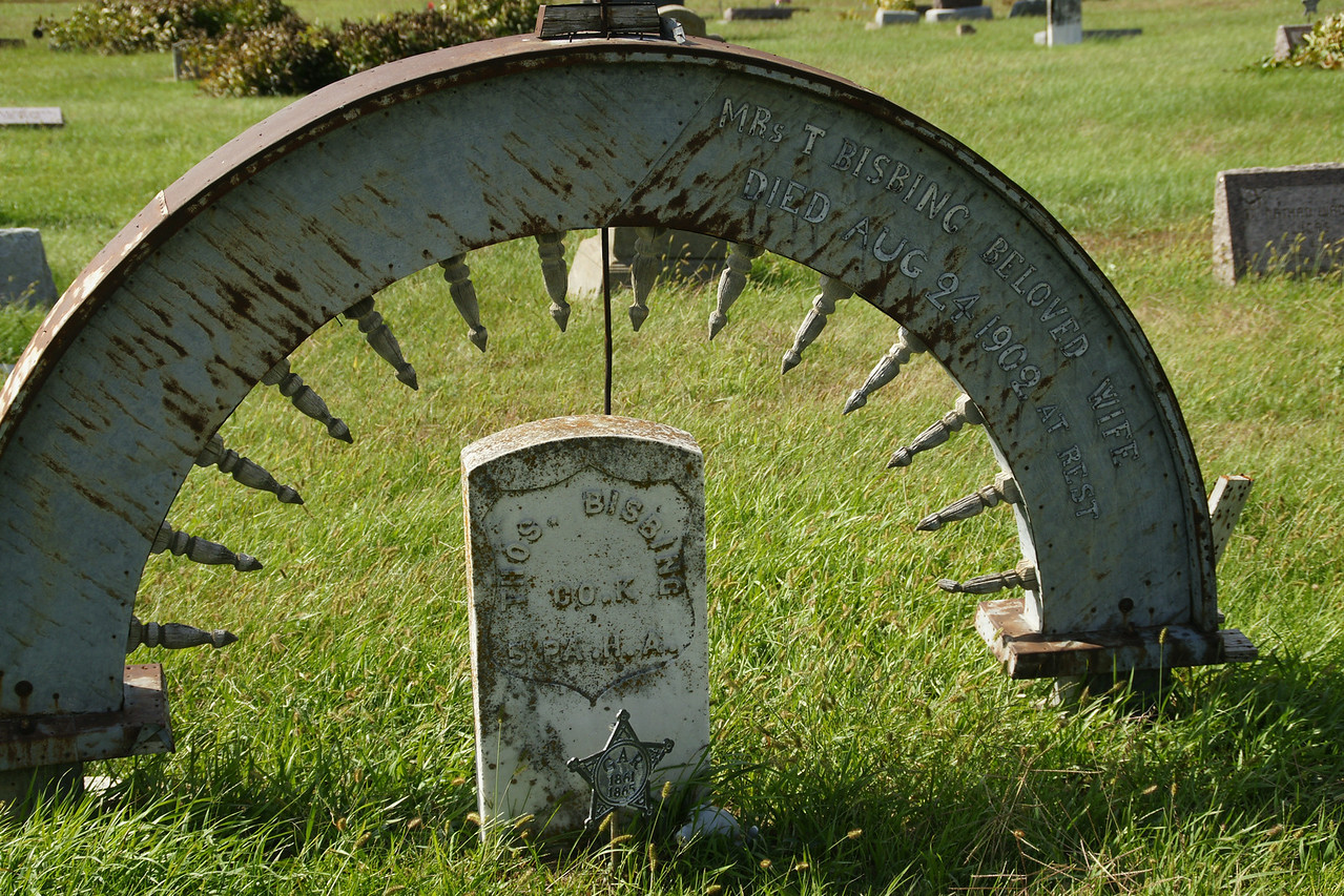 "Unique ""headstone"" at Barrett Cemetery - southern Marshall County"