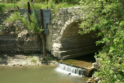 Swede Creek stone arch bridge - southwest Marshall County