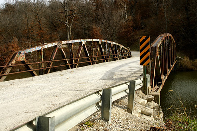 Truss bridge over arm of LaCygne Lake - southeast Miami County