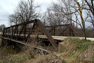 Pony truss bridge over North Wea Creek northwest of Louisburg