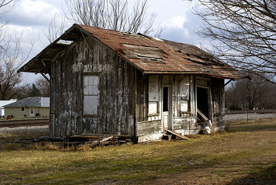 Decaying railroad depot in Beagle