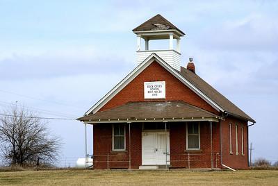 Rock Creek school - northwest Miami County. Built in 1910.