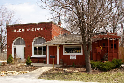 Hillsdale Bank Bar B Q. In 1906 bank building.