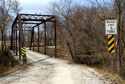 Jake's Branch iron truss bridge over Middle Creek southeast of Paola