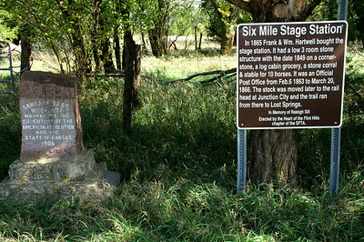 Six Mile Stage Station site on Santa Fe Trail north of Burdick