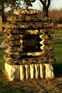 Pioneer settlers monument at Burdick Cemetery