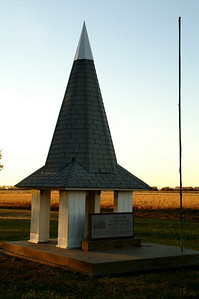 Swedish Mission Cemetery near Lost Springs. Steeple from former church
