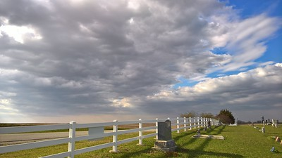 Clouds above Fairview Cemetery - southeast Nemaha County