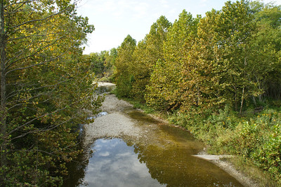 Spring Creek seen from bridge on Spring Creek Road