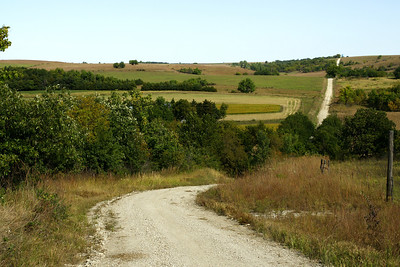 Hills in northern Pottawatomie County