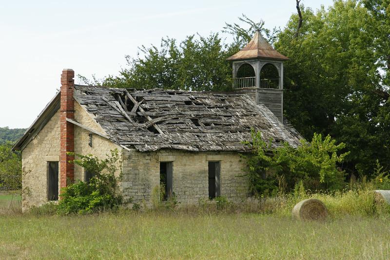 Abandoned school along Shannon Creek Rd in northwest Pottawatomie County