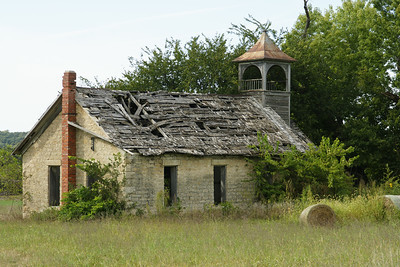 Abandoned school along Shannon Creek Rd in northwest Pottawatomie County
