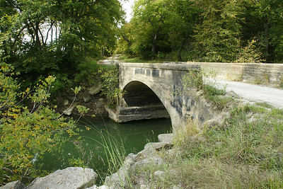 Concrete arch bridge over Wilson Creek west of Westmoreland