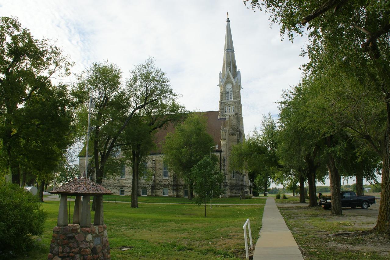 St Joseph Catholic Church in Flush Kansas, built 1901.