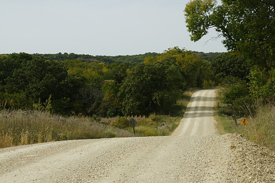 Section of Shannon Creek Road in northwest Pottawatomie County