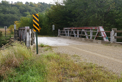Pony truss bridge over Swede Creek - northeast Riley County