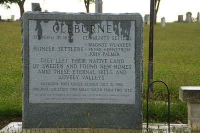 Cleburne community monument at Bellegarde Cemetery