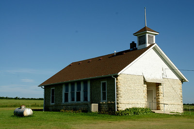 Deep Creek Schoolhouse, built 1892, in southeast Riley County