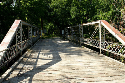 Pony truss bridge over Deep Creek near Zeandale