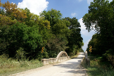 Rainbow arch bridge over Six Mile Creek - southern Shawnee County