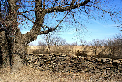 Stone fence - Southwest Shawnee County